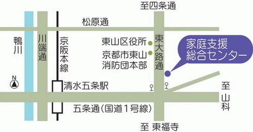 センターの地図