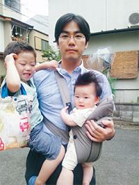 藤井弁護士とふたりの子たち
