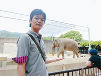 京都市動物園にて:谷弁護士