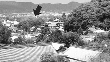 銀閣寺からみた半鐘山