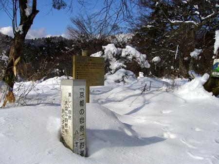 雪に埋もれた八丁平
