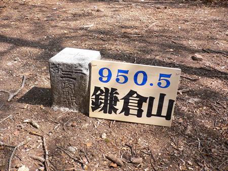 鎌倉山の三等三角点(950.1m)