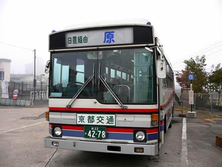 JR八木駅発原行きバス