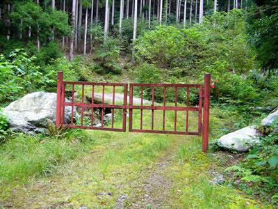 二俣にある鉄柵ゲート