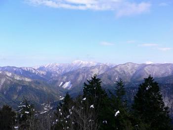 801m鉄塔付近から武奈ヶ岳を望む